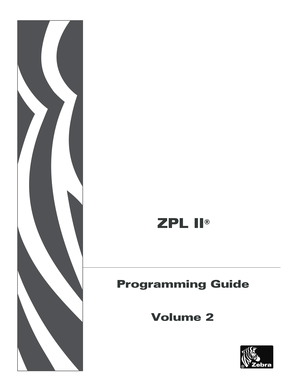 Fillable Online ZPL II Programming Guide Volume Two ZPL II
