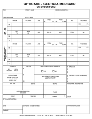 Fillable Online OPTICARE GEORGIA MEDICAID Fax Email Print - PDFfiller