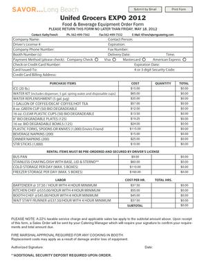 Fillable Online Equipment Order Form AI 9 - unifiedgrocerscom Fax ...