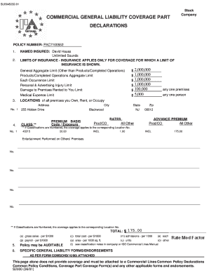 Printable free fillable insurance binder Forms and ...