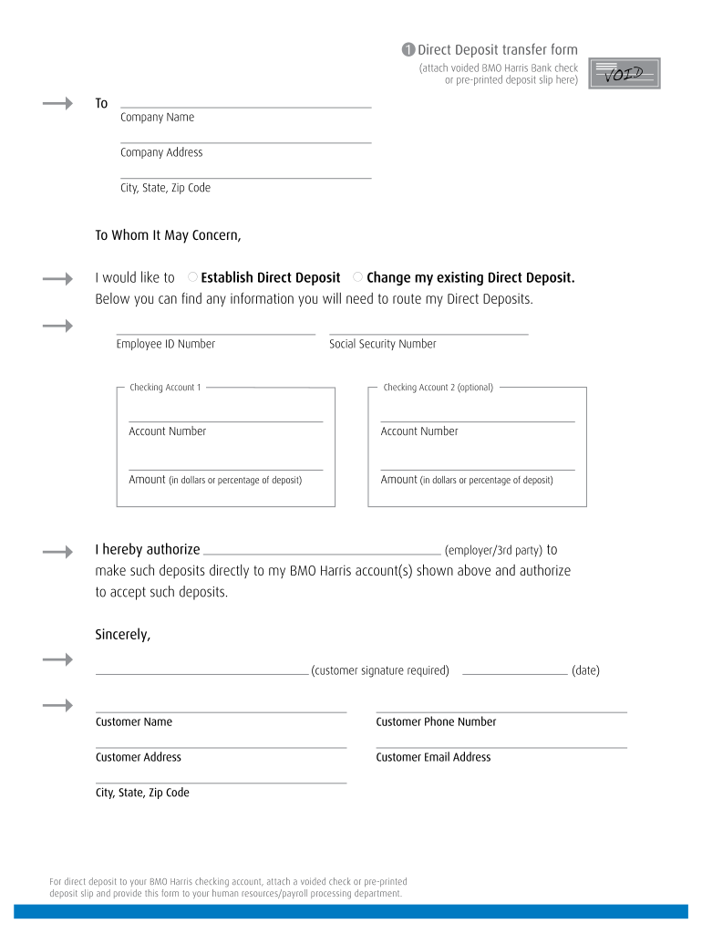 direct deposit form bmo  Bmo Direct Deposit Form - Fill Online, Printable, Fillable ...