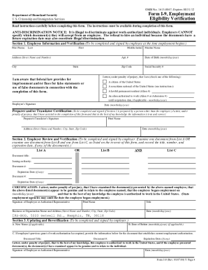 form i-9 fillable  14 Printable Instruction For Employment Eligibility ...