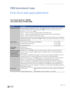 Term Sheet Template Word Forms - Fillable & Printable Samples for ...