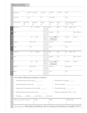 Fillable Online dnr illinois Boating Accident Report Form ...
