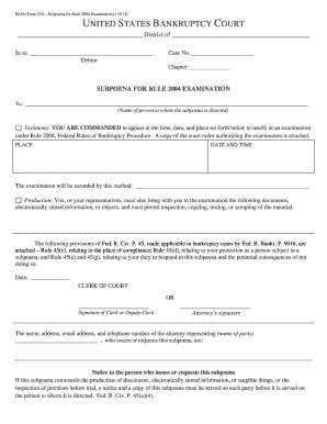 Editable Federal court subpoena form - Fill Out & Print Resumes ...