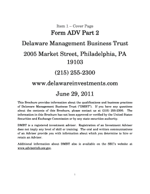 fillable online form adv part 2 delaware management citi