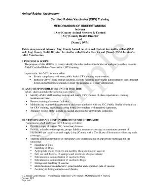Memorandum of understanding sample forms and templates fillable sample memorandum of understanding mou certified rabies vaccinator crv training spiritdancerdesigns Images