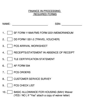 fms form 2231 Templates - Fillable & Printable Samples for PDF ...