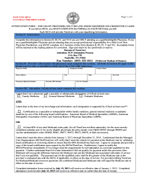 Tenncare Crossover Claim Attestation Form - Fill Online, Printable ...
