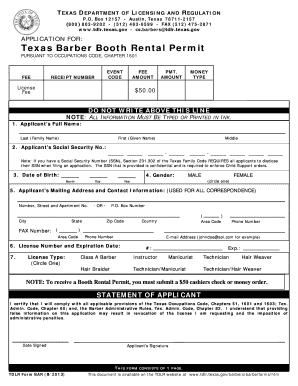 Booth Rental Agreement Forms and Templates - Fillable & Printable ...