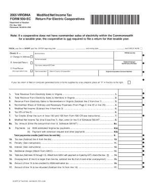 Fillable Online tax virginia 2005 VIRGINIA FORM 500-EC Modified ...