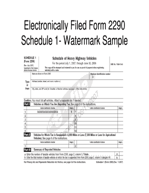 sample 2290 form  Fillable Online ftp txdmv Electronically Filed Form 13 ...