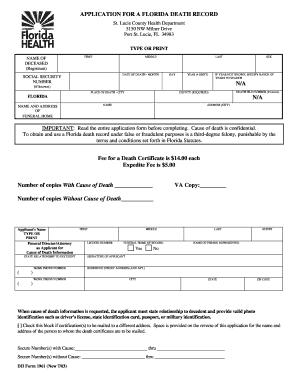 Florida death certificate sample images certificate design and death certificate texas template choice image certificate design yadclub Gallery