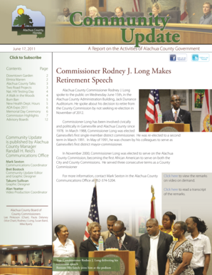 Commissioner Rodney J. Long Makes Retirement Speech - alachuacounty