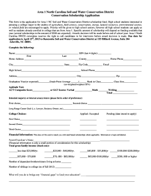 Fillable Online buncombecounty Common Scholarship Application Form ...