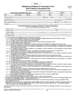 Cuyahoga County Real Property Conveyance Form