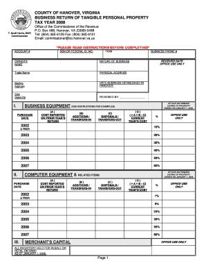 Hanover County Va Personal Property Tax