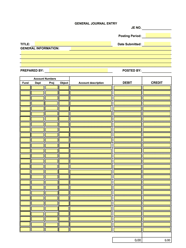 Journal Entry Template Pdf - Fill Online, Printable, Fillable Regarding Double Entry Journal Template For Word