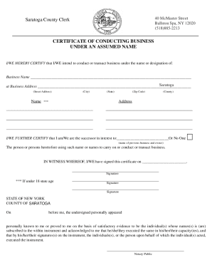 Dba Change Form Saratoga County Ny - Fill Online, Printable ...