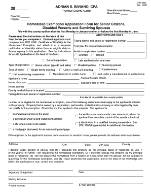 Trumbull County Homestead Exemption - Fill Online, Printable ...
