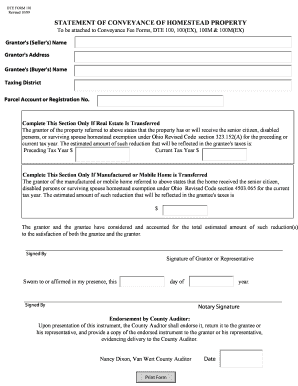 Cuyahoga County Dte Form 101 - Fill Online, Printable, Fillable ...