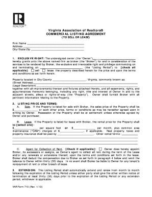 2013 2018 form va var 710 fill online printable fillable blank virginia listing agreement platinumwayz