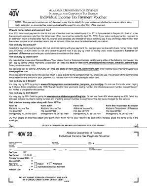 Alabama Form 40v - Fill Online, Printable, Fillable, Blank | PDFfiller
