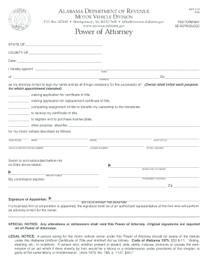 Bill Of Sale Form New Mexico Motor Vehicle Power Of Attorney Form ...