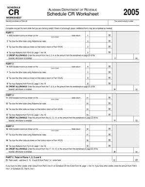 Fillable Online revenue alabama 2005 Alabama Tax Form 40