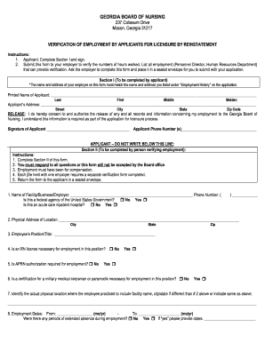 Georgia Board Of Nursing Employment Verification Form.  Schoolsnycgovofficesdhremploymentverification Form  Employment Verification Request Form Template