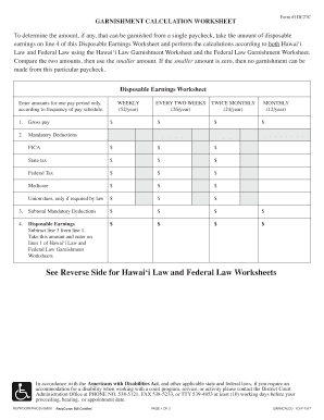Worksheets Garnishment Worksheet garnishment calculator fill online printable fillable blank calculator