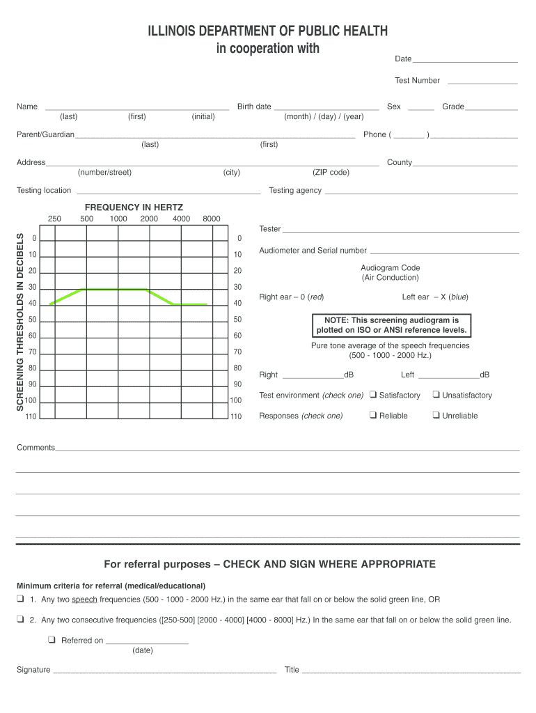 Audiogram Template - Fill Online, Printable, Fillable, Blank Intended For Blank Audiogram Template Download