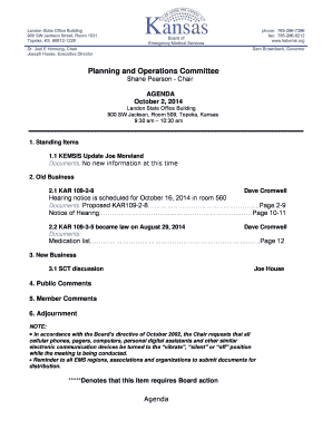 Planning and Operations Committee - The Kansas Board of ...
