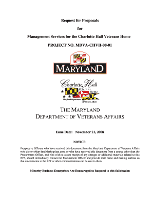 Request for Proposals - Maryland Department of Veterans Affairs