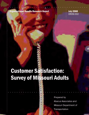 Customer Satisfaction Survey Report - library modot mo