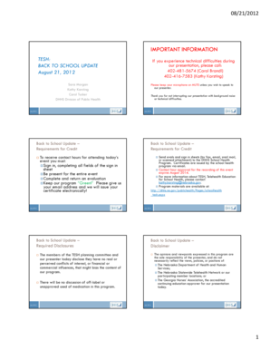 Microsoft PowerPoint - All Slides - Nebraska Health and Human ... - dhhs ne