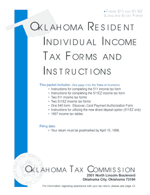 Oklahoma State Tax Form - Fill Online, Printable, Fillable, Blank ...