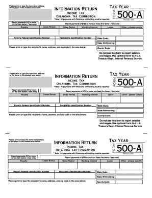 various income tax return forms