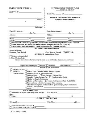 Scca 233 Form - Fill Online, Printable, Fillable, Blank | PDFfiller
