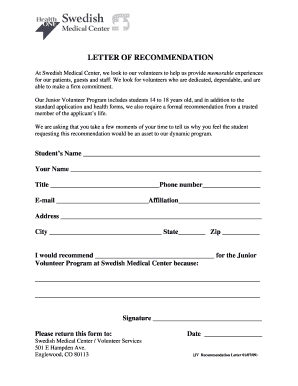 Letter of recommendation for scholarship forms and templates swedish medical clinic documentation form scholarship recommendation spiritdancerdesigns Choice Image