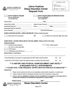 Fillable Online hopkinsmedicine Referral form - Johns