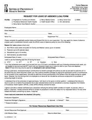 Leave of Absence (LOA) Request Form.pdf - Sisters of Providence ...
