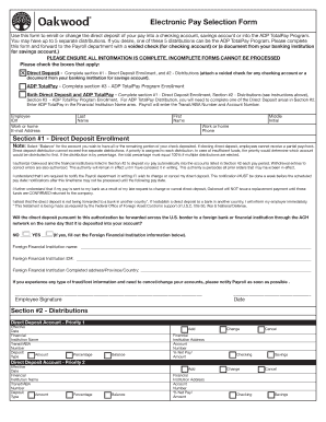20 Printable Direct Deposit Authorization Form Adp Templates
