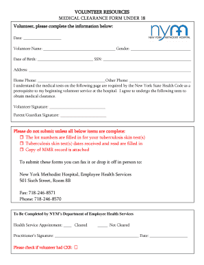 Methodist Hospital Medical Clearance Form