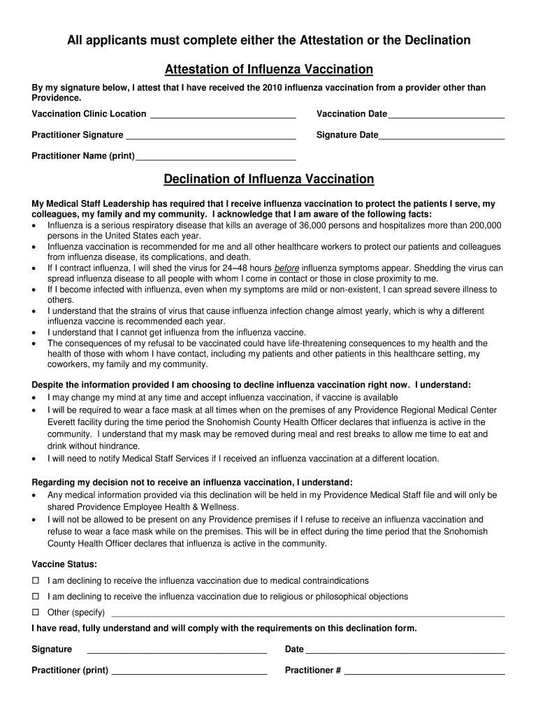Ohsu Flu Vaccine Consent Form Fill Online Printable Fillable Blank Pdffiller