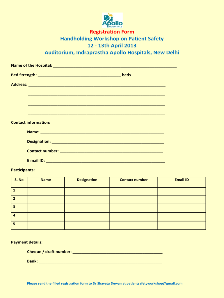 Apollo Hospital Form   Fill Online, Printable, Fillable, Blank ...