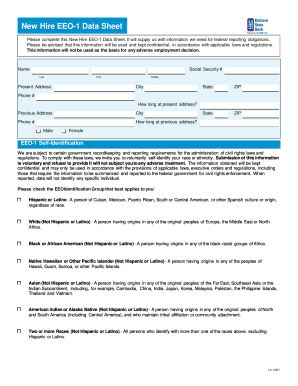 New Hire Eeo 1 Data Sheet Pdf - Fill Online, Printable, Fillable ...