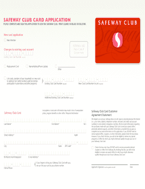 Fillable Online Carrsplus/safeway club card application Fax Email ...