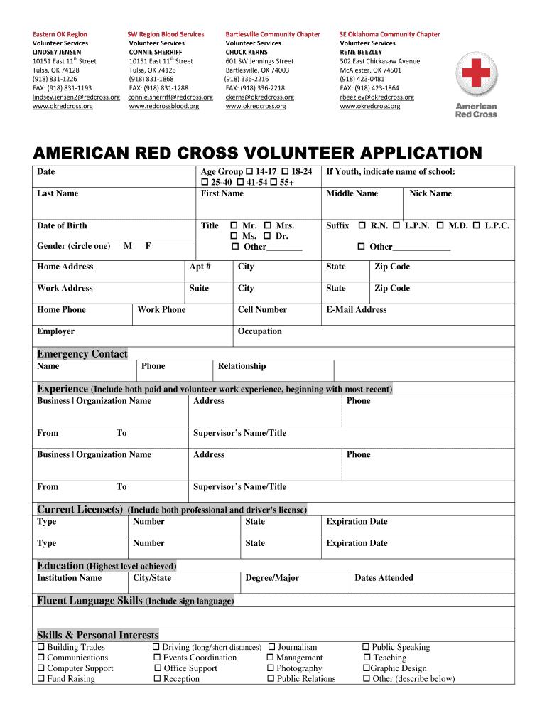 Kenya Red Cross Volunteer Application - Fill Online