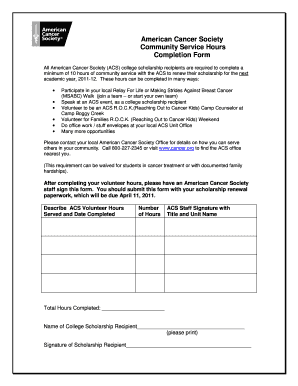 community service completion completion form fill printable fillable blank 16255 | 21981448